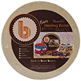 Papermania Bare Basics Kraft Chipboard Nesting Boxes 3/Pkg-Circle, Up To 6