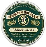 Cera para muebles   Hermann Sachse   incolora para madera   adecuada para todo tipo de madera   cera natural para el cuidado de muebles de madera y antigüedades   tarro de 125ml