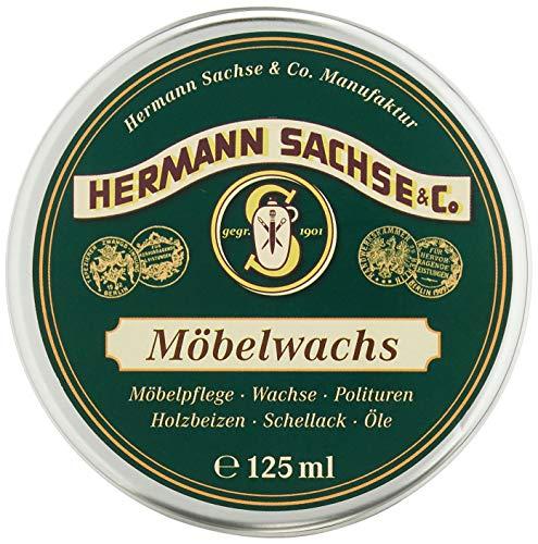 Möbelwachs farblos - 125ml Antikwachs hergestellt aus Leinölfirnis Bienenwachs Carnaubawachs, Wachs für Holz - Möbel Holztisch (7,96€ /100 ml)