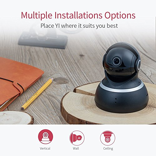 YI Telecamera di Sorveglianza 1080p IP Camera Videocamera WiFi 360° con Sensore Movimento Visione Notturna per iOS/Android (Nera) - 8