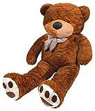 Iso Trade XXXL Teddybär 190cm Plüschtier Plüschbär Kuscheltier Stofftier Riesen Groß #4660, Farbe:Dunkelbraun
