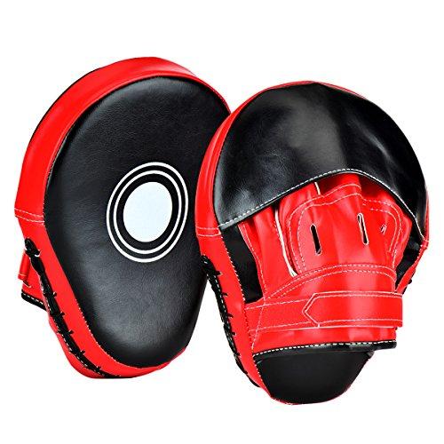 Wuudi 2pcs cuero de boxeo Focus almohadillas MMA y # x2605; Gancho y J