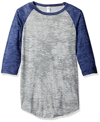 Alternative pour femme Classic Burnout Big League Baseball Tee Grey Heather/Navy