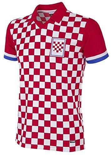 Copa Kroatien Retro Trikot 1992 rot-weiß rot-weiß, L