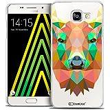 Caseink - Coque Housse Etui Galaxy A5 2016 (A510) [Crystal HD Polygon Series Animal - Rigide - Ultra Fin - Imprimé en France] - Cerf