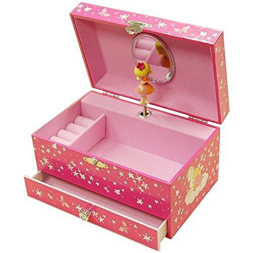 Mele ragazze cavallo amanti, Carillon portagioie con specchio e cassetto