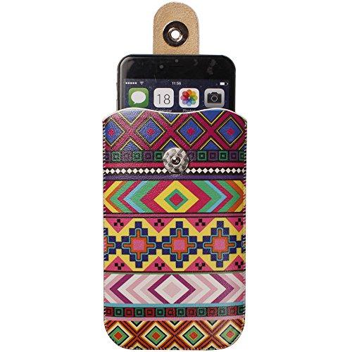 """xhorizon TM magnétique fermeture cuir Pull Tab Sleeve Case Cover Sac Etui Coque Housse Pochette boucle de ceinture ZY pour 4.7""""iPhone 6 C"""