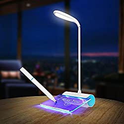 USB Rechargeable Touch Switch LED Desk Table Reading Lamp + Message Board