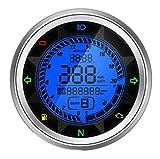 Goandstop Motorrad-Tachometer Drehzahlmesser LCD Trip Meter SX-05
