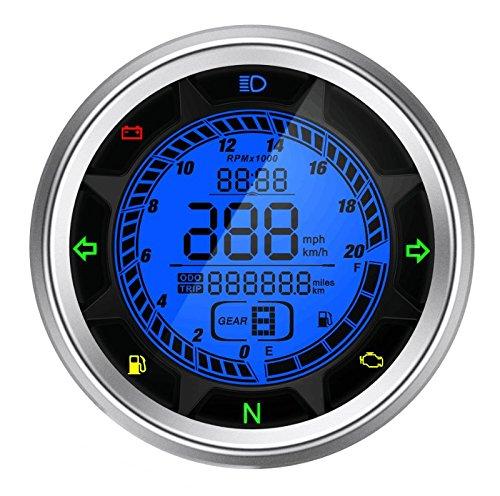 Medidor de viaje del tacómetro del velocímetro del LCD de la motocicleta de Goandstop de la motocicleta de Goandstop SX-05