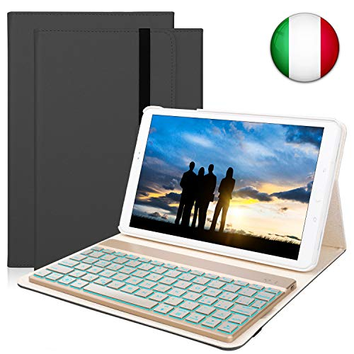 tastiera italiana tablet KVAGO Custodia Tastiera per Samsung Galaxy Tab A10.1