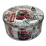 Runde Vintage Metall Dose City Vorratsdose Retro Blechdose Box Metalldose Design London