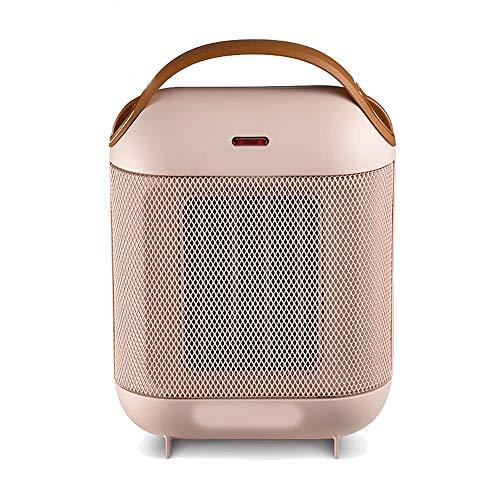 Xiao Heizung, Keramik-Heizung, Haushalt tragbarer Mini-Büro Schlafzimmer Bad, heiß und kalt, einstellbar schnelle Heizung Raumheizkörper (Color : Pink)