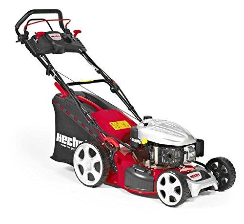 HECHT 5484 SXE mit Elektro-Start (3,7 kW / 5,0 PS) Benzin-Rasenmäher, Schnittbreite 46 cm, 60 Liter Fangkorb, 4-Gang Radantrieb