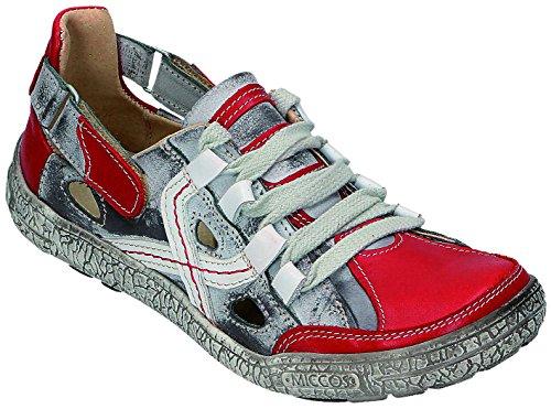 MICCOS Shoes Chaussures pour Femme Sportif D. Chaussures basses Gris - Rot/Grau