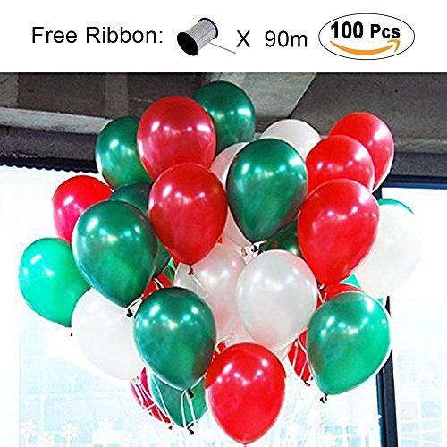 0 stk Ø ca. 27cm Rot Grün Weiß Party Dekoration für Hochzeit Geburtstag –Rot/Grün/Weiß (Rot Und Weiß-party Dekorationen)