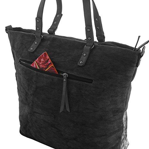 614f406dba3fe ... Emily   Noah Shopper Tasche mit Pailletten ZXF156 in verschiedenen  Farben schwarz ...