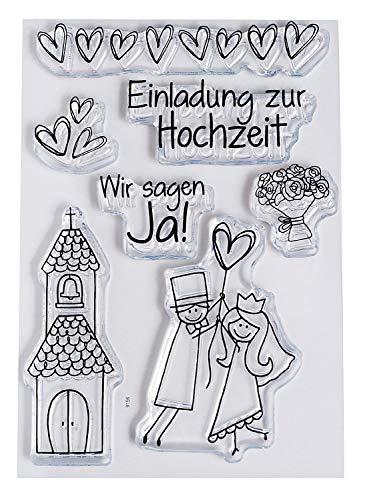 "Clear Stempel-Set""Hochzeit"", ca. 7,4x10,5cm"