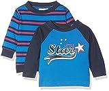 Twins Shirt Little Star, Maglia Manica Lunga Bimbo, Pacco da 2, Multicolore (Mehrfarbig 3200), Taglia 80 cm