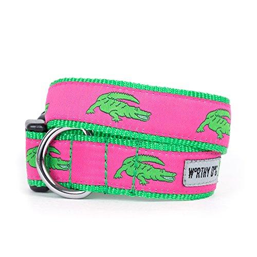 Alligator-kragen (Die würdiger Dog Alligator Halsband für Hunde, groß, Rosa)