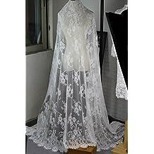 Chantilly encaje floral vestido de novia/boda flor tela festoneado cortinas de ropa recortado negro