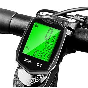 51tP1Lnu00L. SS300 DINOKA Computer Bicicletta Wireless Impermeabile Ciclismo Computer Bicicletta Tachimetro Retroilluminazione Display LCD…