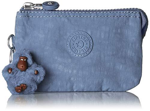Kipling Creativity S, Porte-monnaie femme, Bleu (Timid Blue C), 5x14.5x9.5 cm (B x H T)