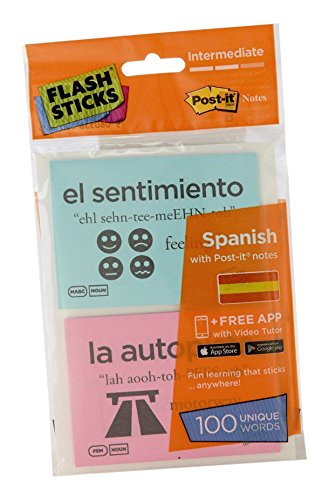 FlashSticks Post-it Haftnotizen Intermediate Spanish