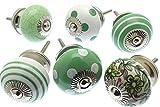 Assortiment de boutons Vert &blanc (lot de 6)-MG 220 A Vintage-Chic