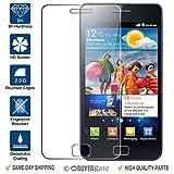 ACENIX® 100% authentique protection d'écran en verre trempé pour Samsung Galaxy S2S II i9100inclus Chiffon de nettoyage gratuit [sans bulles Installation]