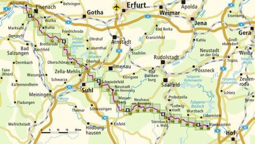rennsteig-hoerschel-blankenstein-leporello-wanderkarte-mit-ausflugszielen-einkehr-freizeittipps-wetterfest-reissfest-abwischbar-gps-genau-125000-leporello-wanderkarte-lep-wk-3