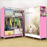GONGYU Klappbarer Kleiderschrank - Tragbarer Kleiderschrank zum Aufhängen von Kleidern, Platzieren von Büchern, Spielzeughandtüchern - Platz sparend|105 * 45 * 168cm