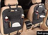 Organisateur de siège d'auto pour siège arrière Organisateur de voiture Tidy Pack de 2 sacs de voyage multifonctionnels en feutre épais, faciles à installer et à enlever (gris)