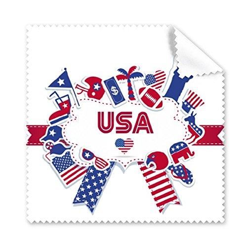 Amerika Flagge Landmark Statue Liberty Muster Brille Reinigungstuch Reinigungstuch Handy-Display von 5x