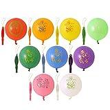 BigFamily Zufällige Farbe 9 Stück Schlagball Runder Latex Mit Gummiband Für Kinder Spaß-Party