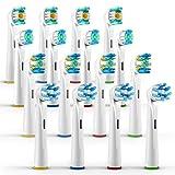 ORAX 16 Stück, Aufsteckbürsten Variety Pack für Oral-B elektrische Zahnbürsten, 4 Bürsten von jedem Typ