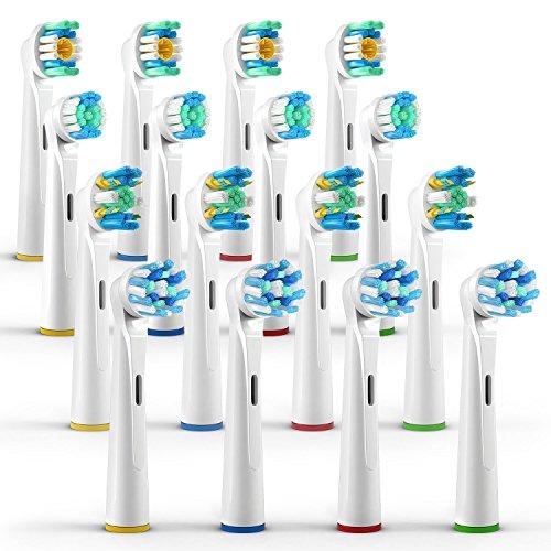 ORAX 16 Stück, Aufsteckbürsten Variety Pack für Oral-B elektrische Zahnbürsten, 4 Bürsten...