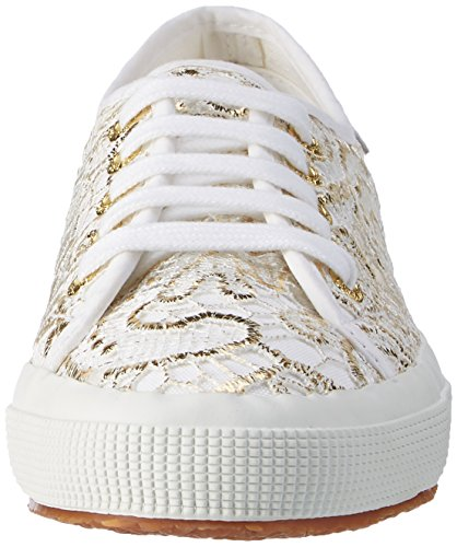 Superga - 2750 Macramew, Scarpe da ginnastica Unisex – Adulto Bianco (White Gold)