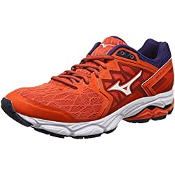 Mizuno Wave Ultima 10, Zapatillas de Running para Hombre, Rojo (Cherrytomato/White/Evening Blue 02), 44 EU