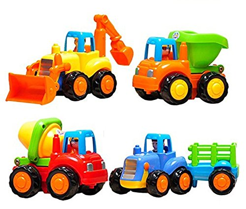 BABY N TOYYS Unbreakable Automobile Car Toy Set For Children Kids Toys Construction Team Set Of 4