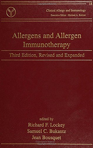 Allergens and Allergen Immunotherapy, Third Edition (Clinical Allergy and Immunology) by Richard F. Lockey (2004-03-10) par Richard F. Lockey