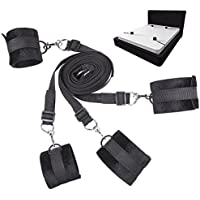 UWIME Under the Bed Restraints - Straps Adjustable - Soft and Comfortable Cuffs for Legs, Ankles and Wrists - Fits Any Size Mattress