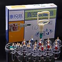 BG-YUFI YF Schröpfen Glas, Haushalt Verdickung Saug Magnetfeldtherapie Vakuum Schröpfen 24 Dosen Schröpfen - preisvergleich bei billige-tabletten.eu
