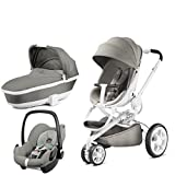 Quinny Moodd with Carrycot Grey Gravel and Pebble Grey Gravel