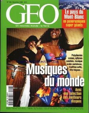 GEO [No 238] du 01/12/1998 - MUSIQUE DU ...