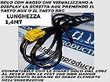 G.M. Production 191G Audio-/Videokabel für Autoradios von Blaupunkt in Fiat, Alfa Romeo, Lancia und Smart-Fahrzeugen, MP3, kein Blue&Me, nur mit AUX-Anzeige verfügbar [Fotos und Angaben zur Kompatibilität beachten]