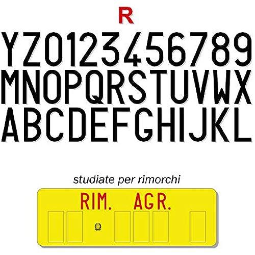 FRN Serie di Caratteri Adesivi per Targa Ripetitrice Carrello Trattore Rimorchio Alta fedeltà (Targa Rimorchio)