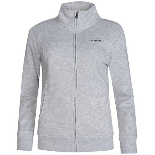 la-gear-womens-full-zip-fleece-ladies-long-sleeve-casual-top-jacket-grey-marl-14-l