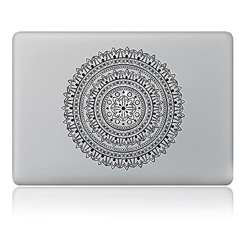 Cinlla® Elegante geometrische Blumen Laptop AufKleber Notebook Schutzfolie Haut aus Vinyl Skin Sticker Decal für Apple Macbook Air 11