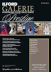 Ilford Galerie Prestige Heavyweight Duo Matt 310 Gsm A3-297 Mm X 420 Mm 25 Blatt